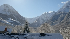 Jeûne dans les Pyrénées, vue depuis le chalet